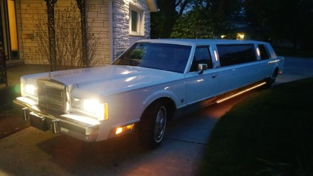 1989 Lincoln Town Car Stretch Limousine 18k Miles For Sale