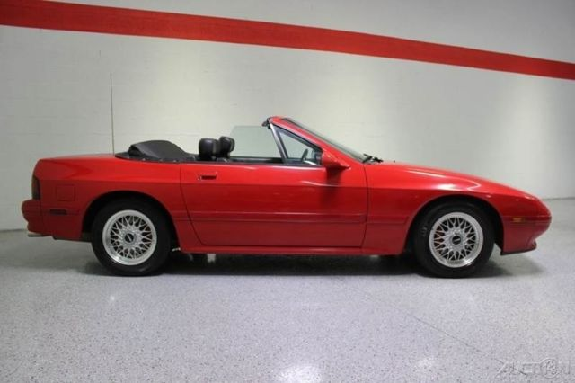 1989 Red Mazda RX-7 with Black interior