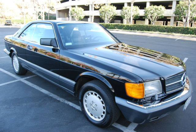1989 Black Mercedes-Benz 500-Series Coupe with Black interior