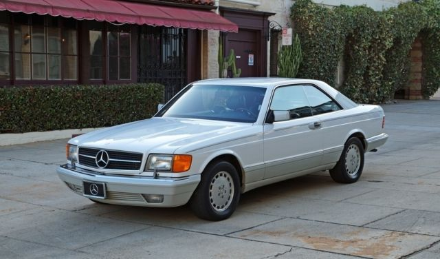 1989 Mercedes-Benz 500-Series Arctic White/Dark Blue, Strong Mechanically