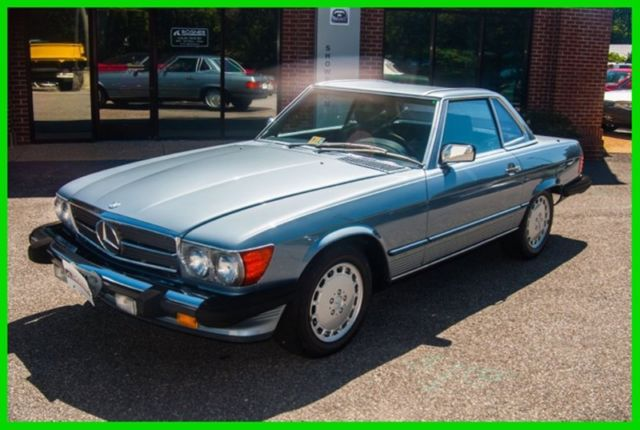 1989 Mercedes-Benz 500-Series 1989 Mercedes-Benz 560SL Blue/Blue, Two Tops, Nice
