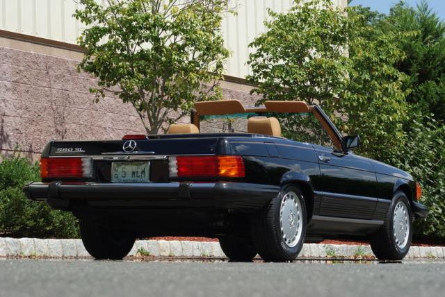 1989 Mercedes Benz 560sl Convertible Black Palo 14 975
