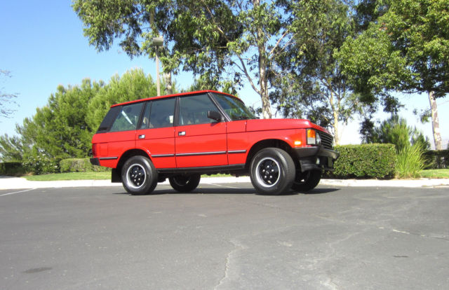 1989 PORTIFINO RED Land Rover Range Rover SUV with SADDLE interior