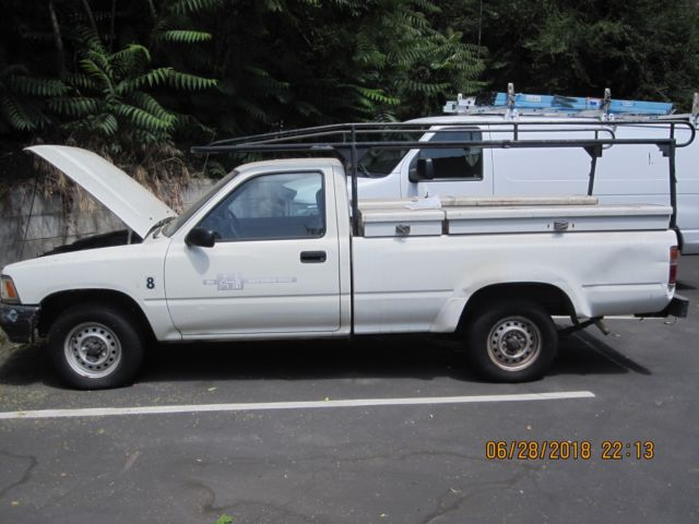 1989 Toyota Pickup With Cross Bed Side Bed Tool Boxes Ladder Rack