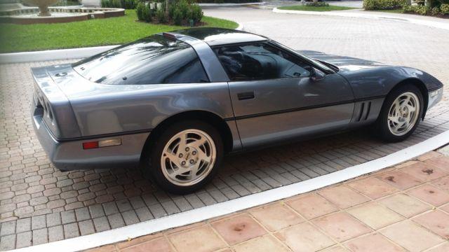 1990 1991 Chevrolet Corvette Coupe Light Blue Black Auto