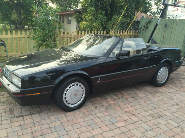 1990 Black Convertible Cadillac Allante for sale photos