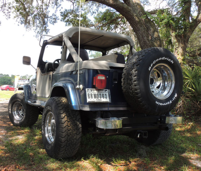 1990 blue jeep wrangler laredo 4 2l engine 5 speed manual for sale photos technical. Black Bedroom Furniture Sets. Home Design Ideas