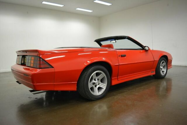 1990 Red Chevrolet Camaro IROC-Z Convertible with Red interior