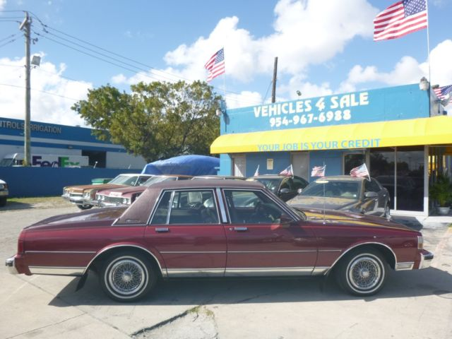 1990 chevy chevrolet caprice brougham classic only 29 884 miles mint condition for sale photos technical specifications description topclassiccarsforsale com
