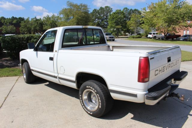 1990 Chevy Silverado White 351991 Mi For Sale Photos