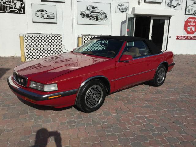 1990 Chrysler Tc By Maserati 3 0 V6 Automatic Convertible
