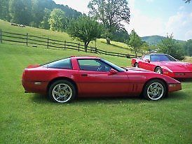 1990 Red Chevrolet Corvette Coupe with Red interior