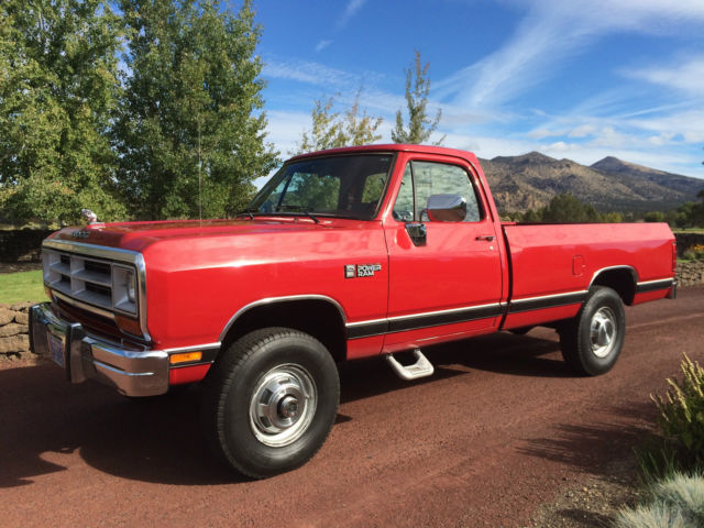 1990 Dodge W-250 12 Valve Turbo Diesel Power Ram  W-250