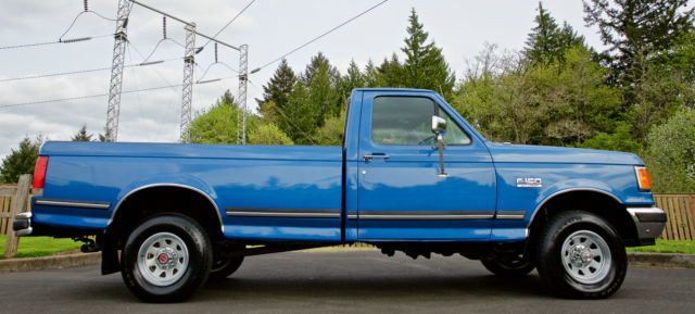 1990 ford f150 lariat xlt regular cab 4x4 8 foot long bed with only 27 368 miles for sale. Black Bedroom Furniture Sets. Home Design Ideas