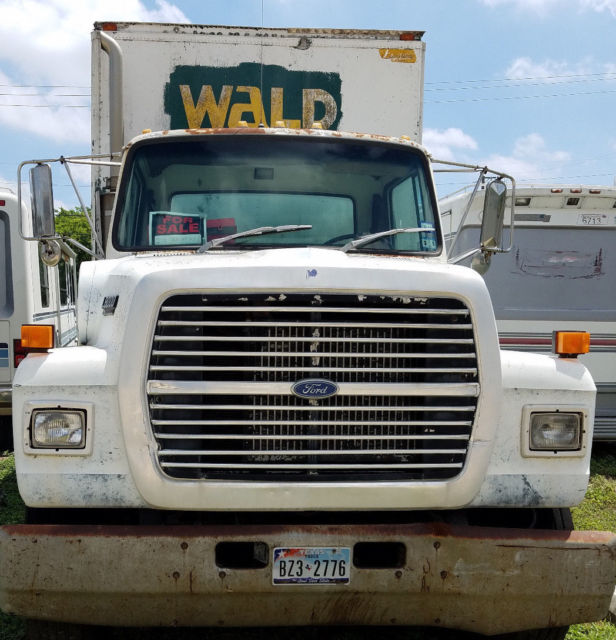 1990 Ford L8000 24\' Foot Diesel Box Truck - 6 Speed Manual Trans for ...