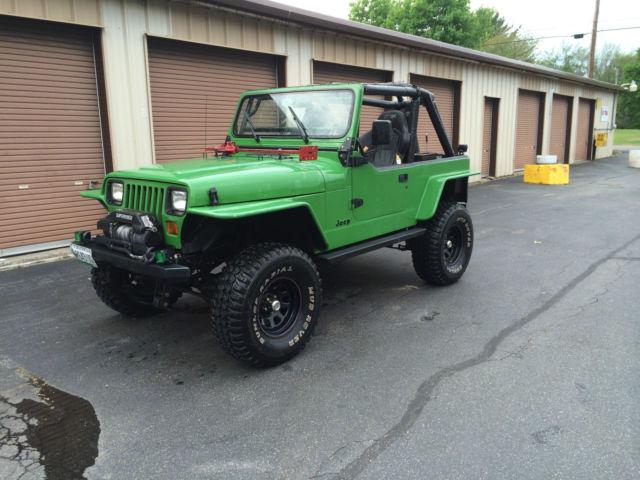 1990 Jeep Wrangler yj rock crawler john deere green!!!! for sale