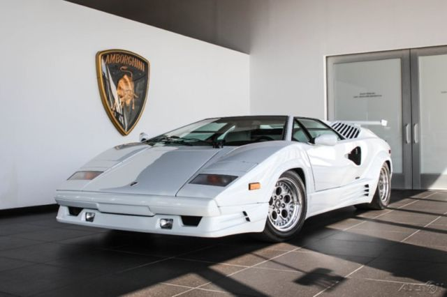 1990 Lamborghini Countach 25th Anniversary White For Sale Photos