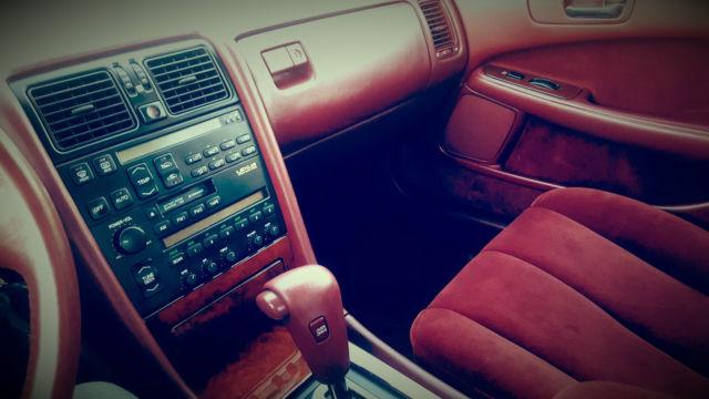 1990 Lexus LS400 4-Door V8 Burgundy Exterior & RARE CLOTH ...