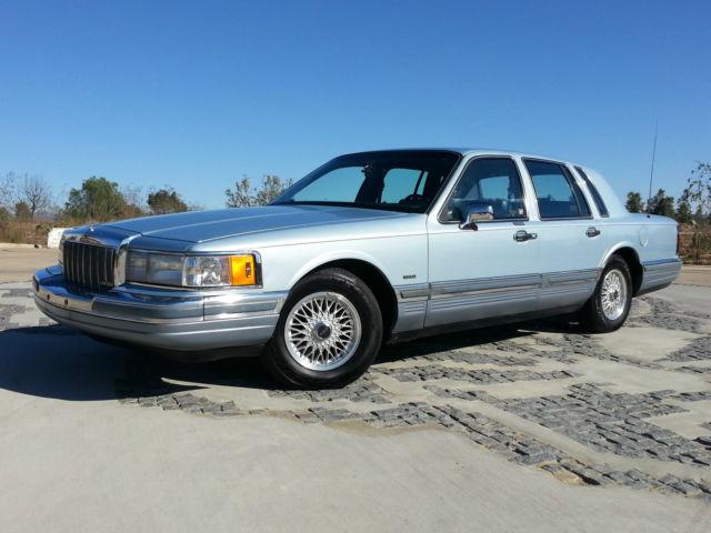 1990 Lincoln Town Car Cartier Sedan 5 0l Only 58 880 Original