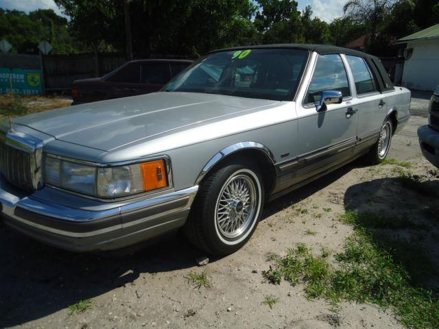 1990 Lincoln Town Car Signature Sedan 4 Door 5 0l For Sale Photos