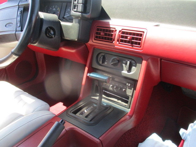 1990 Mustang Gt Convertible Red White Interior Low Miles All Original For Sale Photos