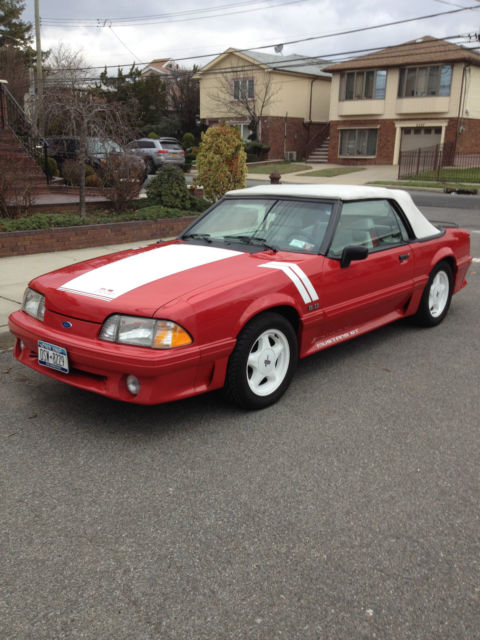 1990 mustang gt convertible red white interior low miles all original for sale photos. Black Bedroom Furniture Sets. Home Design Ideas