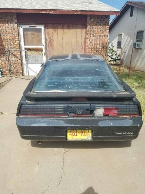 1990 Black Pontiac Trans Am with Black interior