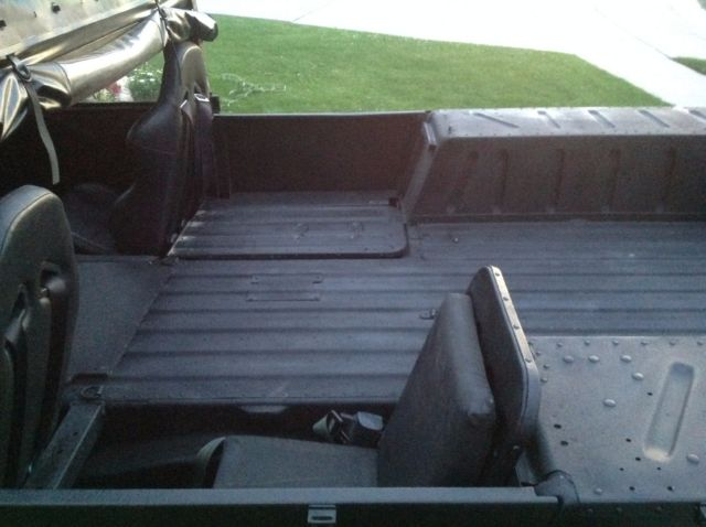 Truck Bed Dimensions >> 1990, Satin Black, Humvee, Military Hmmwv, Hummer, H1, m998 Street Legal Humvee! for sale ...