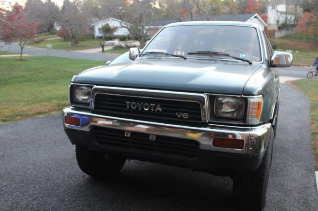 Awesome 1990 Toyota 4Runner SR5 SUV 3.0L V6 Engine 5 Speed Manual Transmission