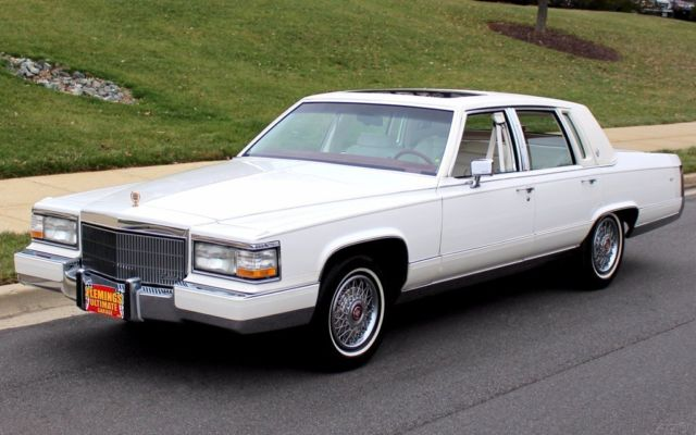 1990 Cadillac Brougham Triple White Brougham