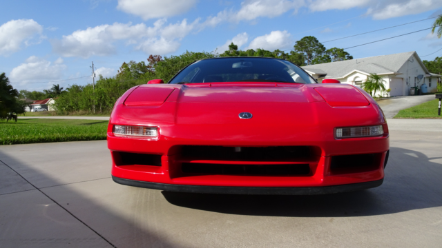 1991 Red Acura NSX Coupe with Black interior