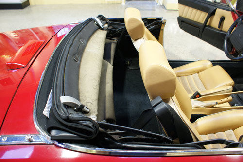 1991 Red Alfa Romeo Spider Convertible with Tan interior