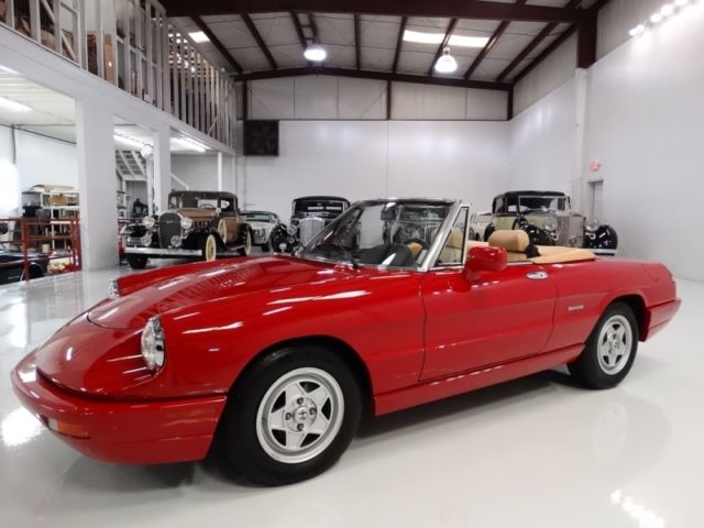 1991 Alfa Romeo Spider ONLY 50,568 CAREFULLY-DRIVEN MILES!