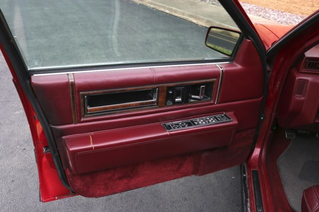 1991 Cadillac Deville Burgundy Red Sedan 4 Door Leather Interior 128468 Miles For Sale Photos
