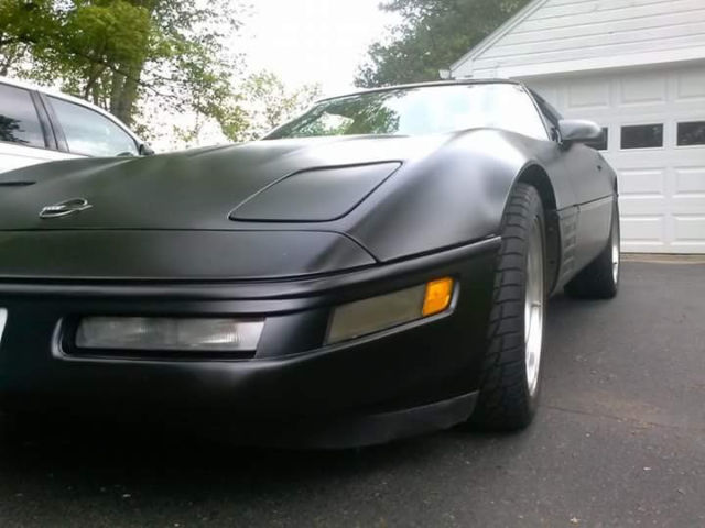 1991 Chevrolet Corvette matte finish black for sale: photos