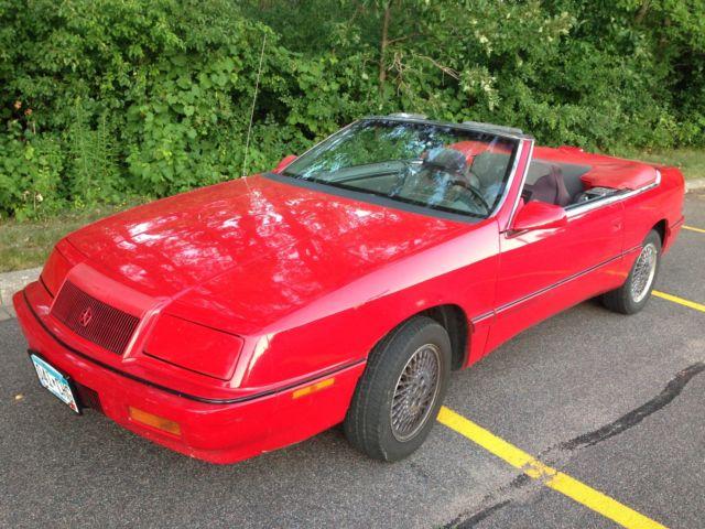 1991 Chrysler Lebaron Gtc Convertible 2 Door 3 0l For
