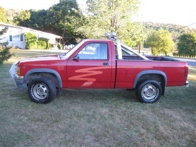1991 dodge dakota sport standard cab pickup 2 door 5 2l 318 v8 truck w hitch for sale photos technical specifications description topclassiccarsforsale com