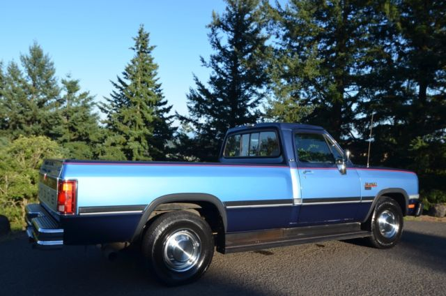 1991 Blue Dodge Other Pickups Standard Cab Pickup with Gray interior