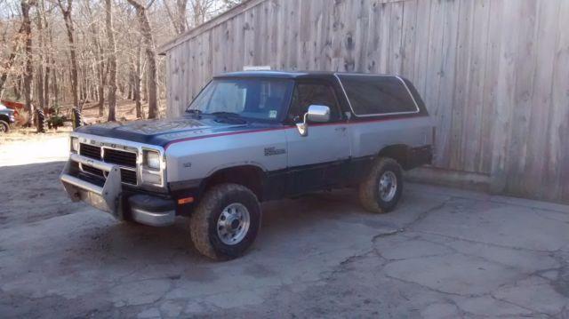 1991 Dodge Ramcharger Cummins Swap Diesel 4wd For Sale Photos