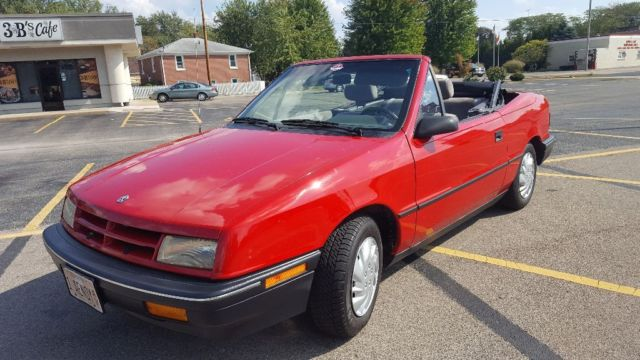 1991 Dodge Shadow Convertible 57 000 Miles 2 Owner 5 Sd Manual