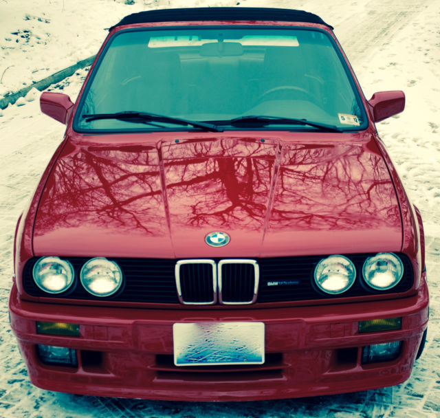 1991 E30 BMW Red Convertible M-Technic For Sale: Photos