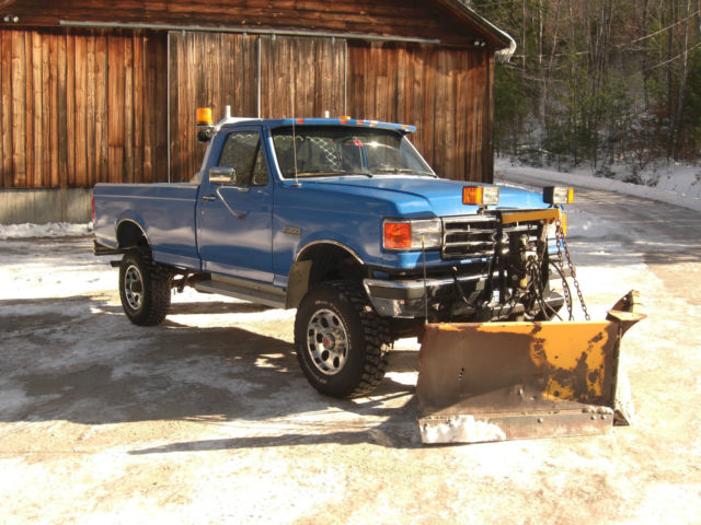 1991 ford f350 4x4 7 3l diesel 5 speed v plow clean truck for sale. Cars Review. Best American Auto & Cars Review