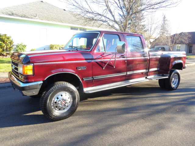 1991 ford f350 4x4 crew cab dually long bed 1992 1993 1994 1990 1989 1988 1987 for sale photos