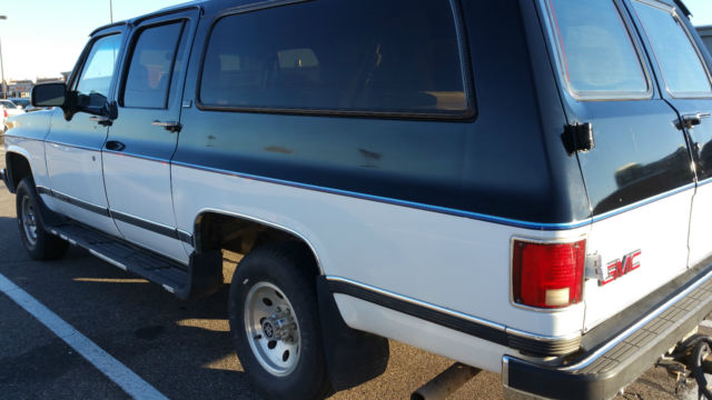 1991 GMC Suburban purchased from original owner square front barn doors & 1991 GMC Suburban purchased from original owner square front ...