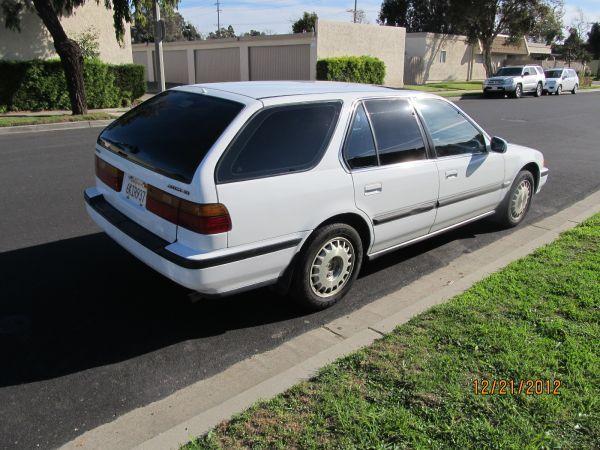 1991 Honda Accord Wagon Ex White Exterior Blue Interior At For Sale