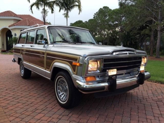 1991 jeep grand wagoneer final year leather 4wd woody extras for sale photos technical. Black Bedroom Furniture Sets. Home Design Ideas