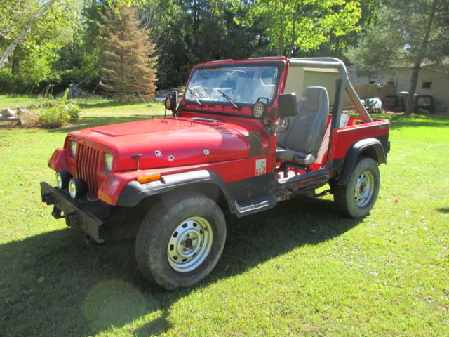 1991 Jeep Wrangler YJ 25 4 cylinder manual trans hard top  doors