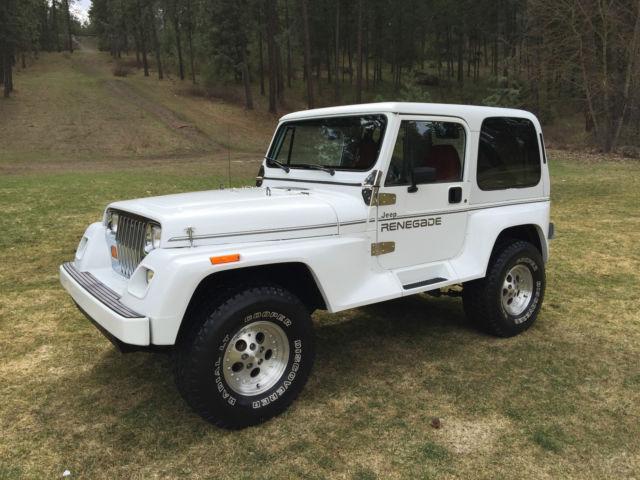 1991 jeep wrangler yj renegade hard top 5 speed 6 cylinder 66 126 low miles for sale. Black Bedroom Furniture Sets. Home Design Ideas