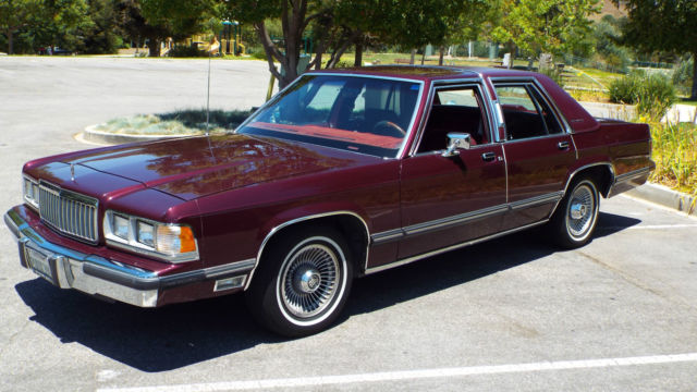 1991 LINCOLN MERCURY GRAND MARQUISNO RESERVE CALIFORNIA CAR for