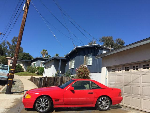 1991 mercedes benz r129 300sl both tops red california 300. Black Bedroom Furniture Sets. Home Design Ideas